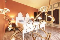 Dormitorio estilo clásico con losa hidráulica