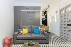 minimalismo con baldosa hidráulica
